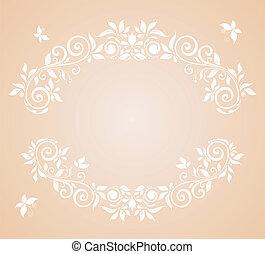 virágos, keret, esküvő