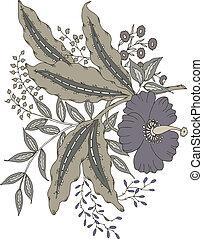 virágos, paisley tervezés