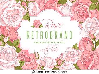 virágos, rózsa, keret, menstruáció