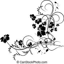 virágos, sarok