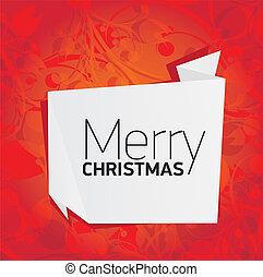 virágos, vektor, karácsony, háttér, piros