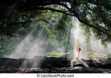 virabhadrasana, yoga hatha