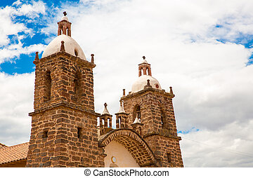 Viracocha Temple, Cusco region, Peru (Ruin of Temple of...