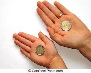 virage, euro, autour de, deux fois