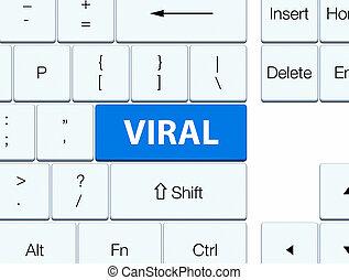 Viral blue keyboard button