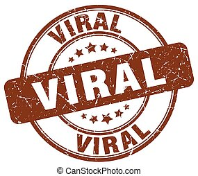 viral brown grunge stamp
