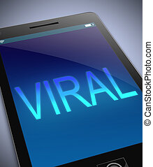 Viral concept. - Illustration depicting a phone with a viral...