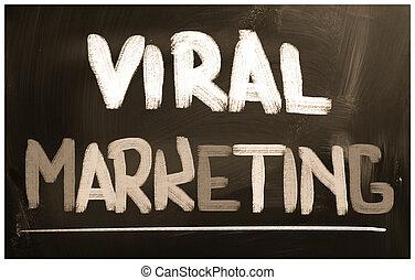 viral, concepto, mercadotecnia