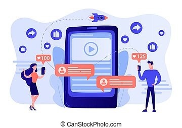 Viral content concept vector illustration
