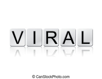 Viral Isolated Tiled Letters Concept and Theme