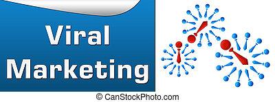 Viral Marketing Blue Horizontal - Horizontal image with...