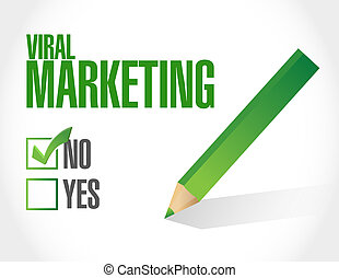 viral marketing checklist sign concept