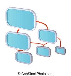 Viral marketing concept cartoon icon