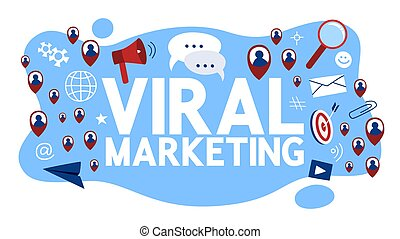 Viral marketing concept. Idea of advertising and promotion
