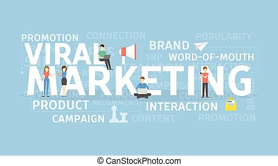 Viral marketing concept. - Viral marketing concept...