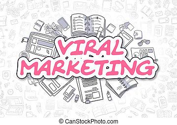 Viral Marketing - Doodle Magenta Text.