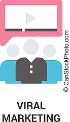 viral marketing icon concept