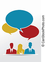 Viral marketing people with speech bubbles