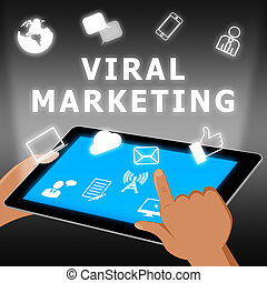 Viral Marketing Showing Social Media 3d Illustration