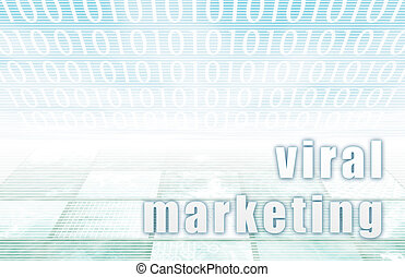 Viral Marketing on a Clear Blue Tech Background