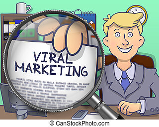 Viral Marketing through Lens. Doodle Concept. - Viral...