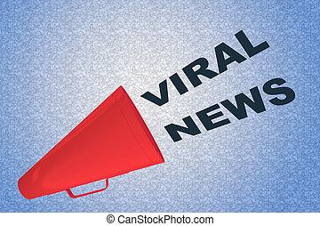 VIRAL NEWS concept