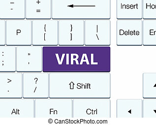 Viral purple keyboard button