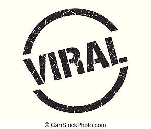 viral stamp - viral black round stamp
