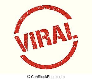 viral stamp - viral red round stamp