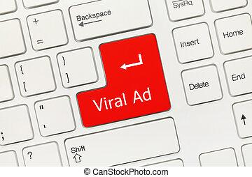 virale, annuncio, -, (red, key), tastiera, concettuale, ...