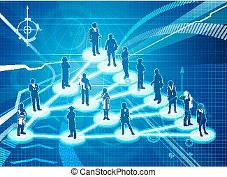 virale, concetto, affari, marketing