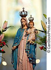 Virgen,  Macao, maría, estatua, iglesia