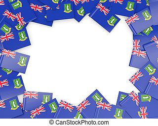 virgen, marco, bandera, británico, islas
