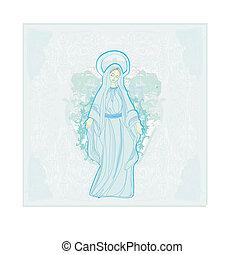 virgen maria, bendito