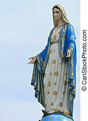 virgen maria, estatua, tailandia