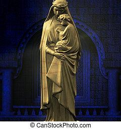 virgen maria, jesús