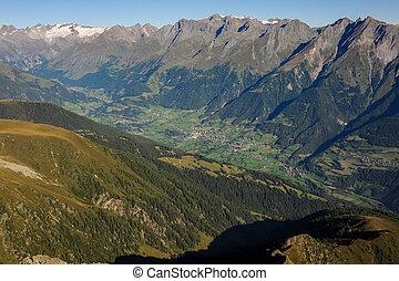 Virgental in Osttirol Austria on a sunny morning