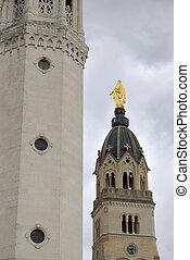 Virgin in Fourviere basilica seen in Lyon, France