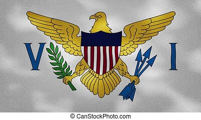 Virgin Islands dense flag fabric wavers, perfect loop for background