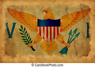 Virgin Islands grunge flag