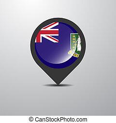 Virgin Islands UK Map Pin