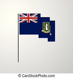 Virgin Islands UK waving Flag creative background
