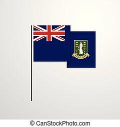 Virgin Islands UK waving Flag design vector background