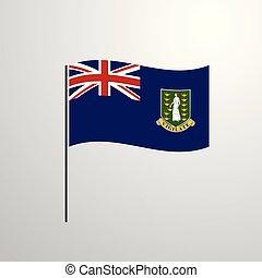 Virgin Islands UK waving Flag