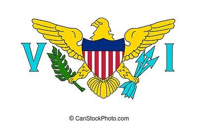 Virgin Islands (US) Flag - Vector Illustration