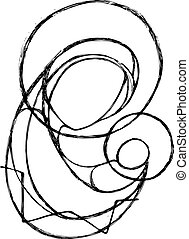 Hand drawn vector illustration or drawing of the Virgin Mary and Baby Jesus in a minimalist style