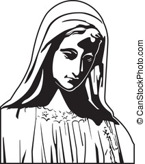 Virgin Mary - This is a vector graphic of the Virgin Mary.