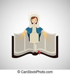 virgin mary immaculate conception bible icon vector...