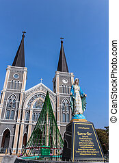Virgin mary statue at the catholic