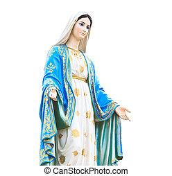 Virgin Mary Statue in Roman Catholic Church
